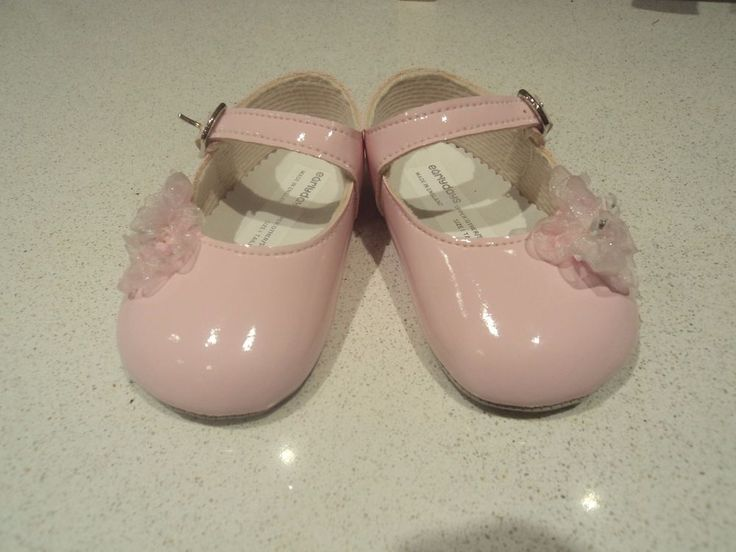 infant 0-3 months tiny baby shoes pink with 2 organza flowers and buckle strap in Baby, Clothes, Shoes & Accessories, Shoes | eBay