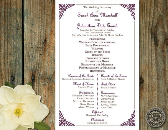 17 Best ideas about Wedding Ceremony Outline on Pinterest | Funny ...