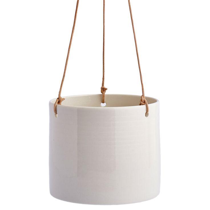 Grow Hanging blomsterpotte M, hvit i gruppen Innredningsdetaljer / Dekorasjon / Vaser & Potter hos ROOM21.no (131900)