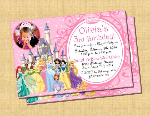 8 best Disney Princess Invitations images – Disney Princess Party Invitations Printable