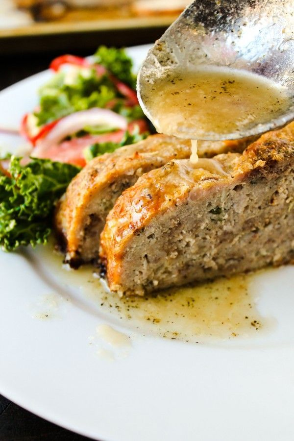 1770 House Meatloaf with Garlic Sauce from @Karen (The Food Charlatan) #recipe #oliveoil #sundaydinner
