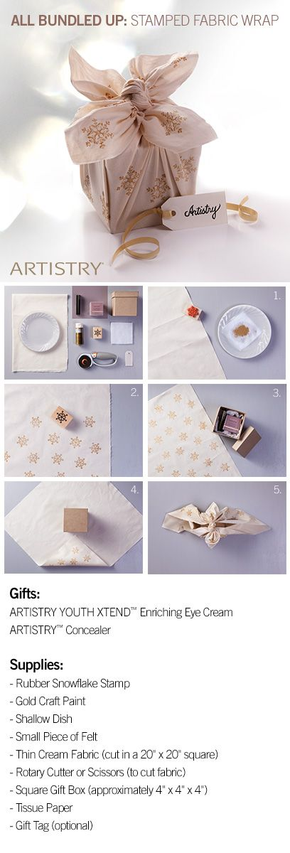 Gift Wrap idea for Artistry products! Products can be found on www.amway.com/rachelkonopa