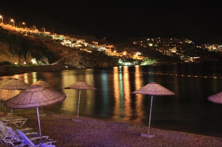 Kalkan Beach by night