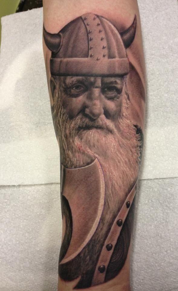Michelle Maddison- Detailed Viking tattoo
