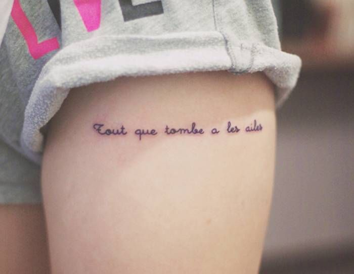 17 best images about french tattoos on pinterest upper for French quote tattoos