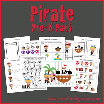 My boys LOVED Pirates when they were younger! And they still do! Sounds like I need to make a unit study, huh? Head on over to Over The Big Moon for this FUN Pre K PiratePrintablePack. Have you grabbed the FREE Devotional for Homeschool Mom's yet? Don't forget to subscribe, so you don't miss any …