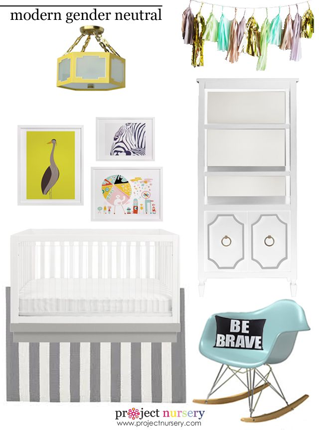 Modern Gender Neutral Nursery Design Board - Project Nursery: Modern, Baby Design, Art, Nursery, Baby Deco, Gender Neutral Nurseries, Kid