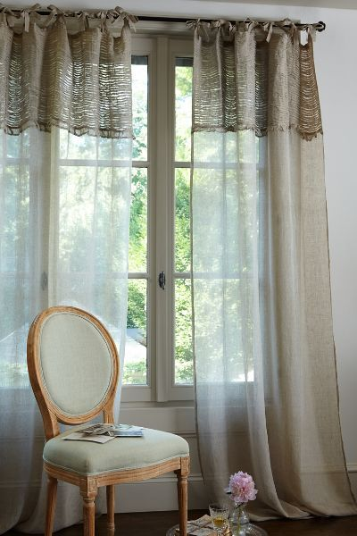 Lavishly constructed, our Ruched Linen Drapery Panels give windows a romantic, vintage-inspired feel. So versatile, these panels are topped with self-fabric ties and coordinate nicely with a wide range of other tones. Available in three sizes.