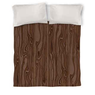 Thumbprintz Wood Grain Large Scale Brown Duvet Cover