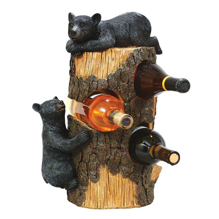 Black Bear Three Bottle Wine Holder Make Without The Bears