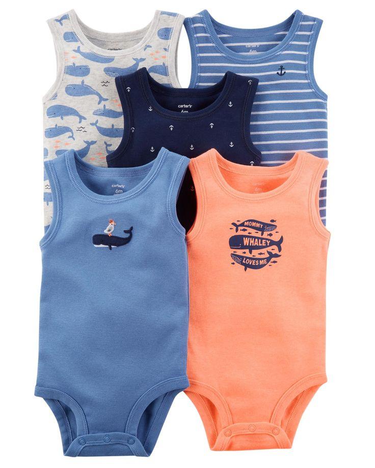 Baby Boy 5-Pack Tank-Top Original Bodysuits | Carters.com