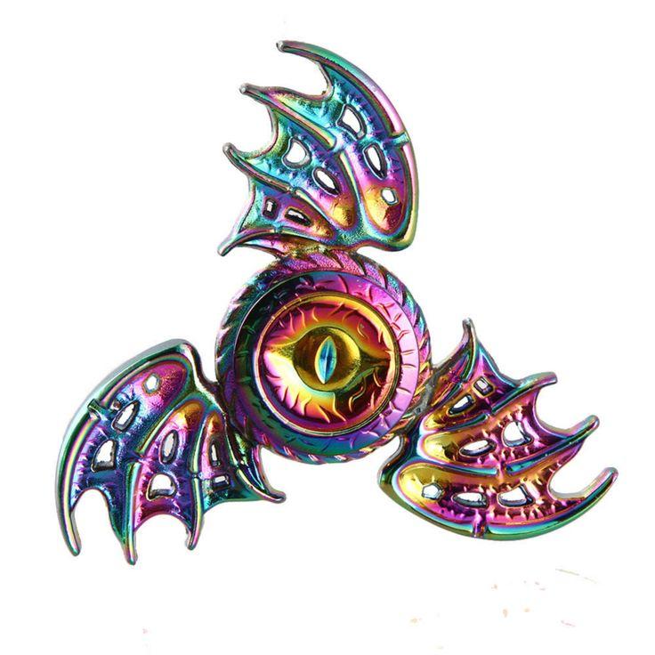 2017 New Fidget Toy Rainbow Game of Thrones Dragon Eyes Hand Spinner Metal Finger Stress Tri Spiner Dragon skinner - Direwolf Shop Direwolf Shop
