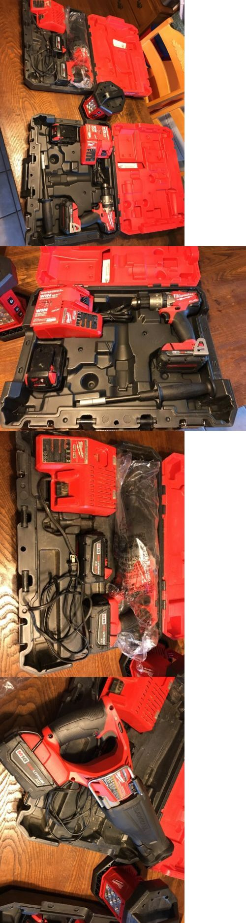 Combination Sets 177000: New Milwaukee M18 Red Lithium Xc Hammer Drill, Sawzall And Led Flood Light -> BUY IT NOW ONLY: $380 on eBay!