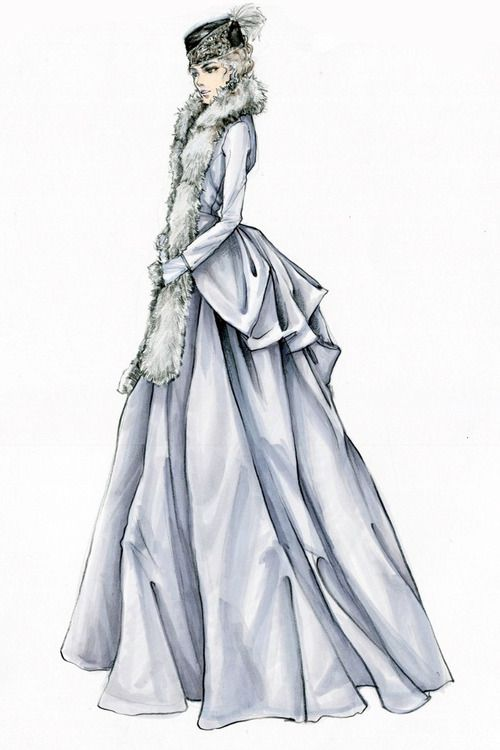 "Jacqueline Durran for ""Anna Karenina"", 2012   Sketch"