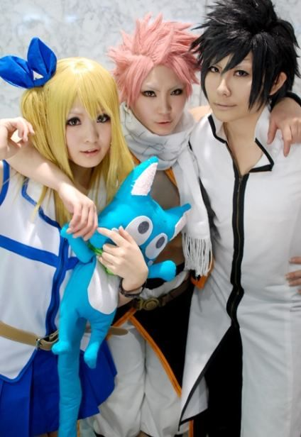 Natsu, Lucy and Grey cosplay_Fairy Tail | Fairy tail ... Fairy Tail Cosplay