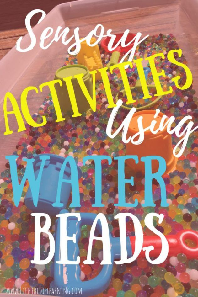 This is a MUST READ on idea for using water beads as a sensory play tool. These bouncy,squishy water beads can be used with so many learning activities.