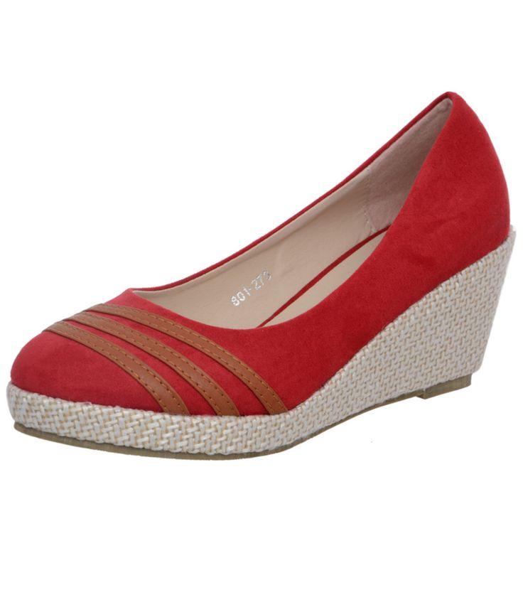 Loved it: Heels N Wedges Red Wedges Pumps, http://www.snapdeal.com/product/heels-n-wedges-red-wedges/1418441148
