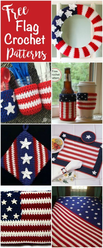 Loving these Free Flag Crochet Patterns