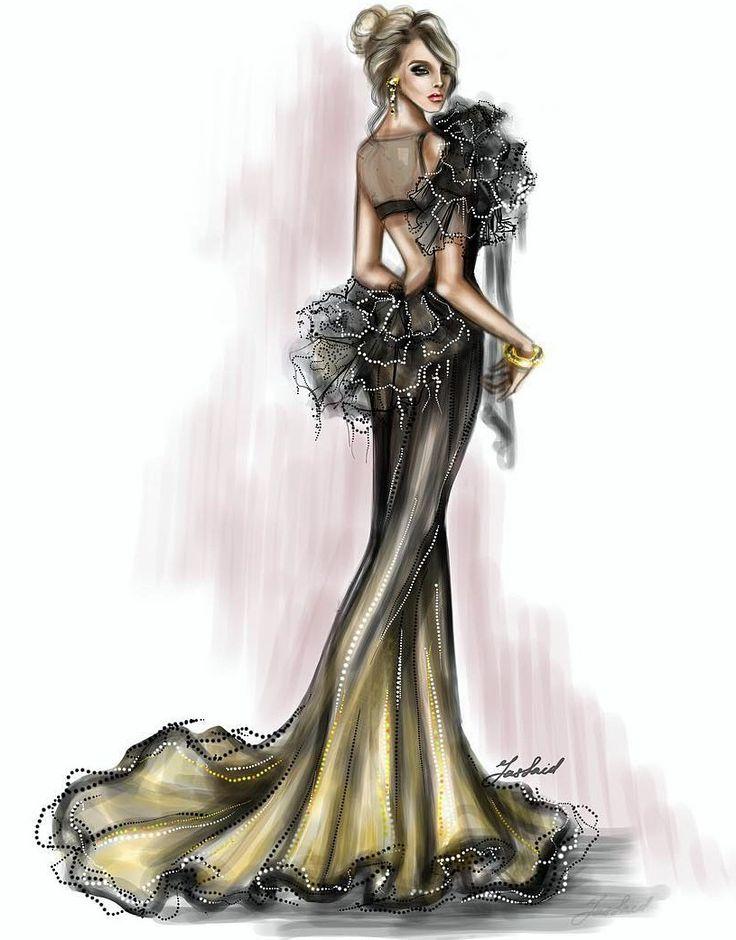 Yassaid Usman Bocetos De Moda Dise 241 Os De Dibujo Y