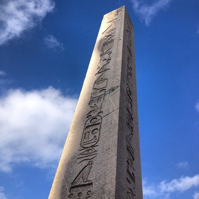 he Ancient Egyptian obelisk of Pharaoh Tutmoses III re-erected in the Hippodrome of Constantinople by the Roman emperor Theodosius I in the 4th century AD.