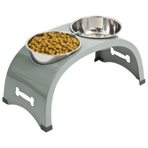 My Dog's Feeding Bowl- Top Paw® Elevated Arch Double Dog Feeder | Automatic Feeders | PetSmart