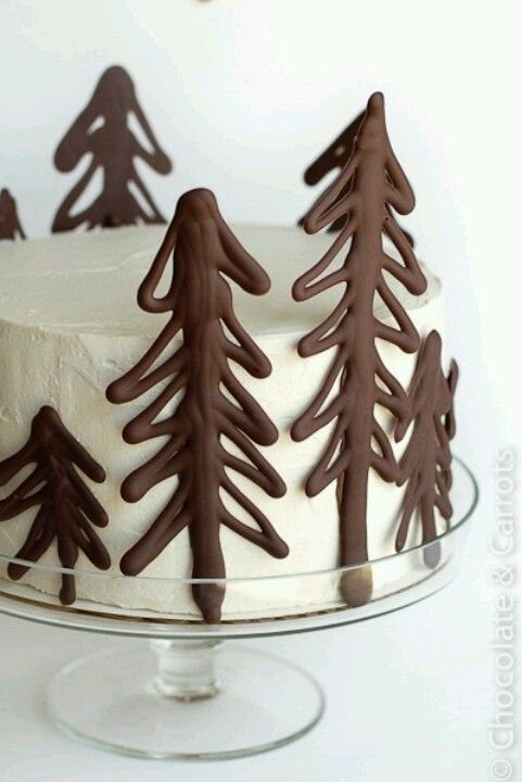 Nice idea for a Christmas cake!