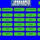 This Smartboard Jeopardy game is designed to review matrices in algebra II using the categories:  matrices, operations, inverses, row reduction, an...