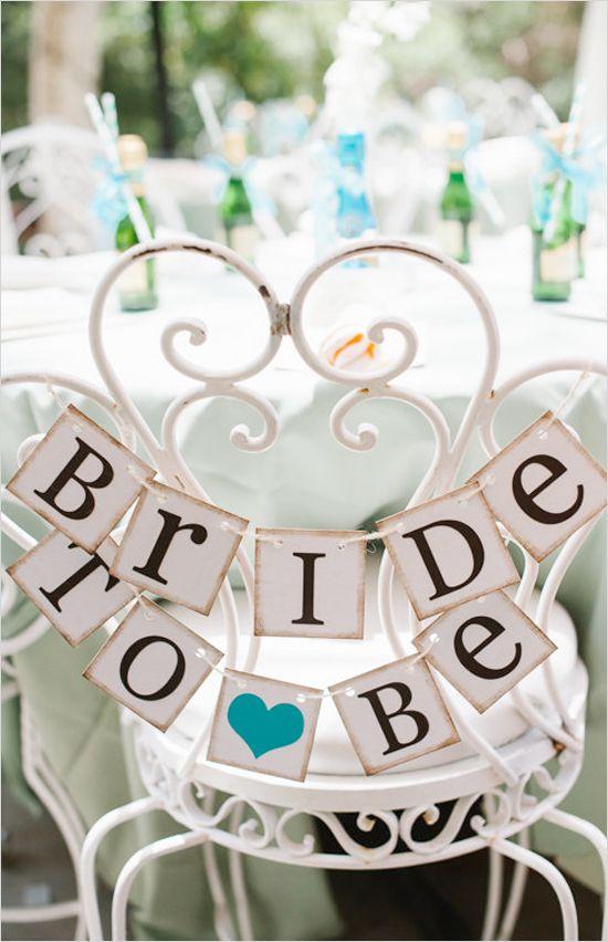 Bride to be mini banner. @weddingchicks