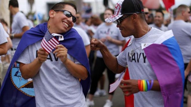 Pentagon to allow same-sex spouses to get military benefits Published August 14, 2013 Associated Press