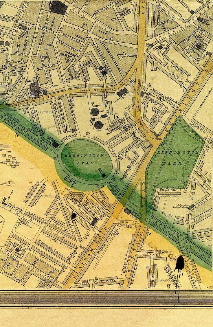 1868 map of Vauxhall Kennington etc 200