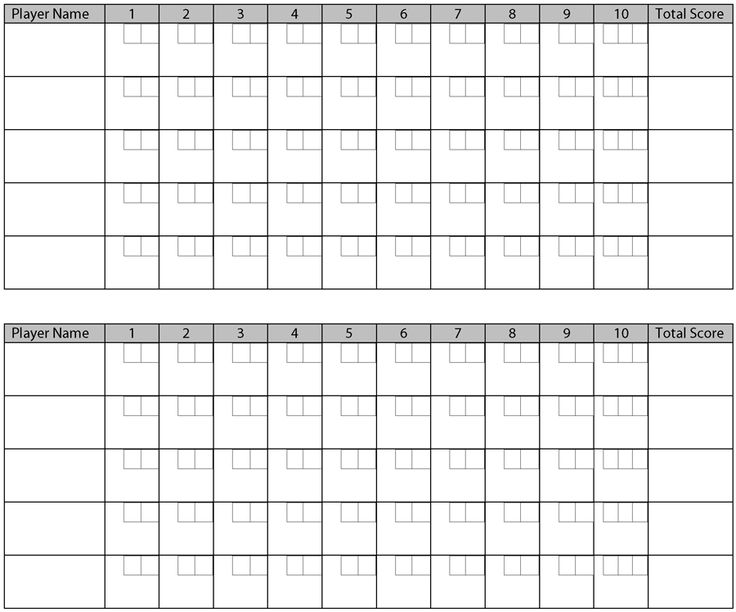 printable bowling score sheets pictures