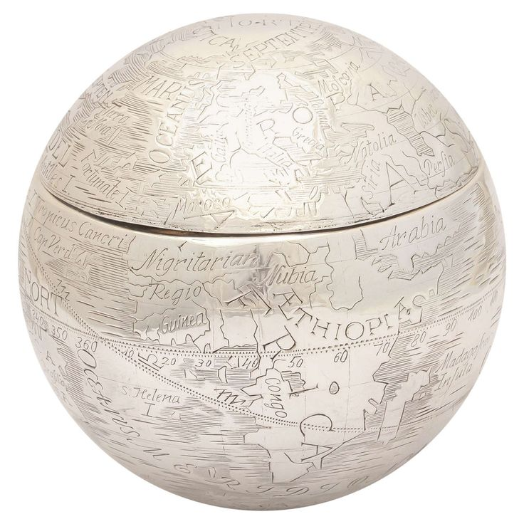 Tiffany Sterling Weighted Globe Box | From a unique collection of antique and modern sterling silver at https://www.1stdibs.com/furniture/dining-entertaining/sterling-silver/