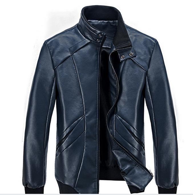 2016 new men's leather jacket men leather bomber biker leather jackets for men skin jacket coat free shipping
