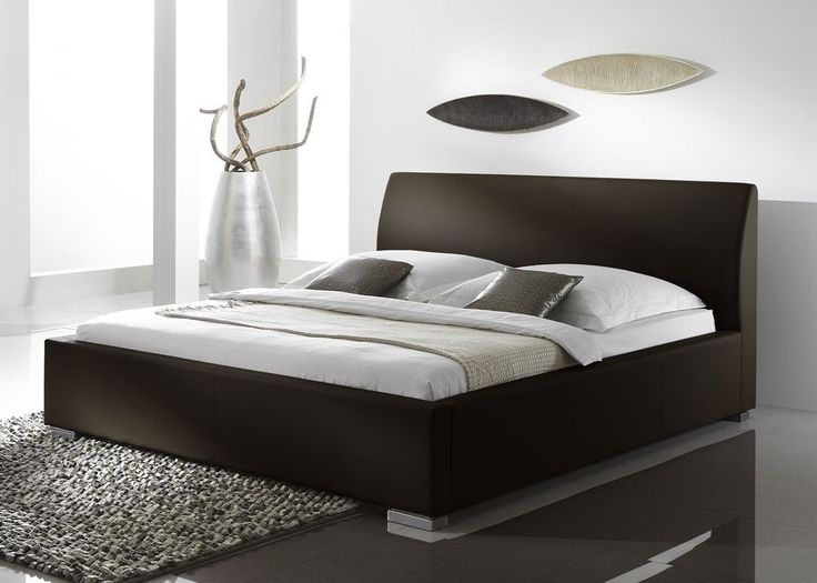Polsterbett Kunstleder Braun Alto Comfort 4784. Buy now at https://www.moebel-wohnbar.de/polsterbett-kunstleder-braun-alto-comfort-4784.html