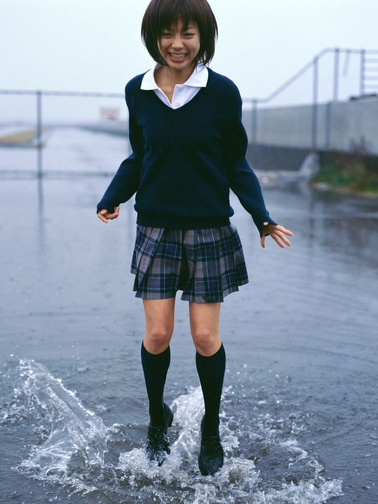 this is similar to my high school uniform. the skirt had red and white as well as the navy and gray.