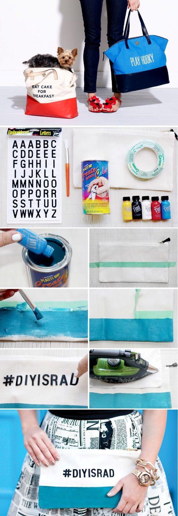 Bag Lovers – DIY Kate Spade Inspired Canvas Bags
