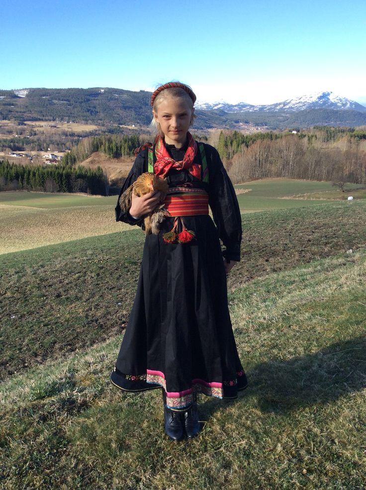 Anne in her Beltestakk from Heddal, Telemark, Norway.