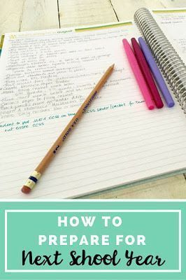 How to easily prepare for next school year. Make a list of all the things you want to change in your classroom WHILE you're still in school. Keep a running tab of all ideas that pop into your head that you're definitely going to want to implement the foll