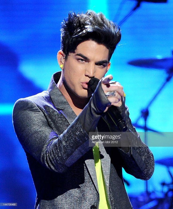 Singer Adam Lambert performs onstage at FOX's American Idol Season 11 Top 3 To 2 Live Elimination Show on May 17, 2012 in Hollywood, California.