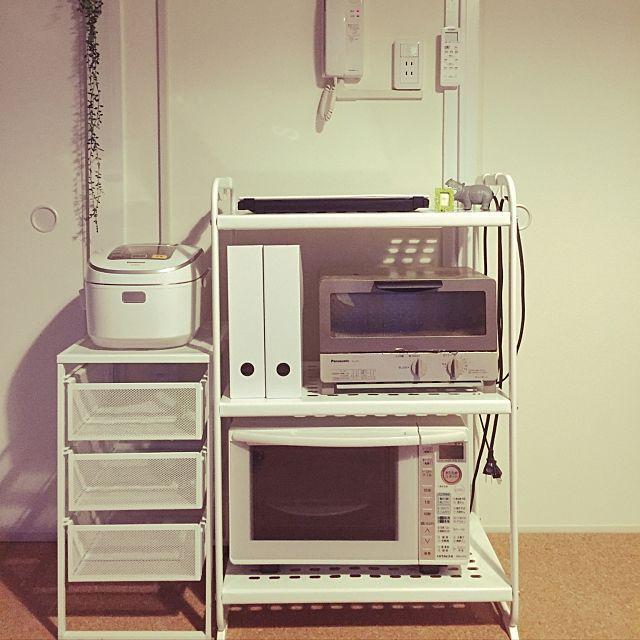 置き方が定まらない人必見 炊飯器の快適な指定席の作り方 レンジ レンジ台 炊飯器