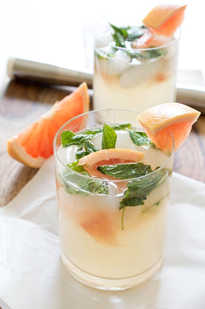 This mint and grapefruit mojito recipe sounds so refreshing and light!