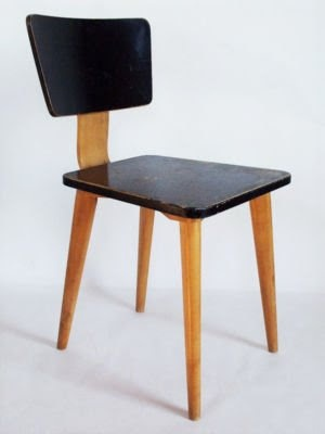 Alexander Girard; Plywood Dining Chair for the Detrola Radio Company Café, c1946.