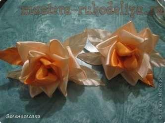 Мастер-класс: Роза из ленточек