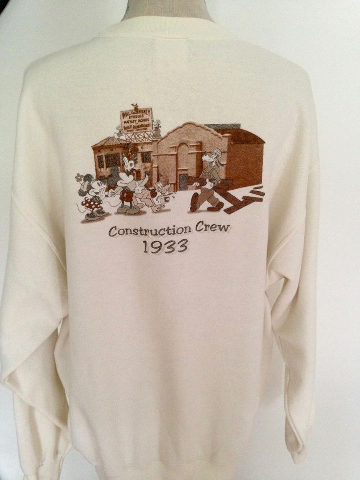 Vintage Disney Mickey Mouse Walt Disney Studios 90s Sweatshirt by 21Vintage on Etsy