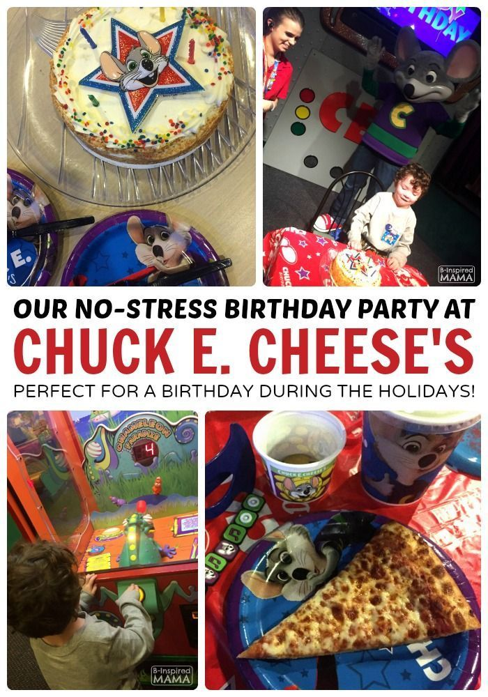 JC's No Stress Chuck E Cheese's Birthday Party - Perfect for a Kids Birthday During the Busy Holiday Season - at B-Inspired Mama