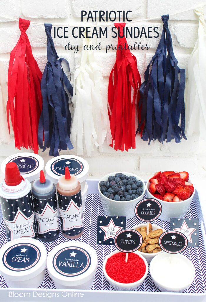 fourth of july ice box cookies