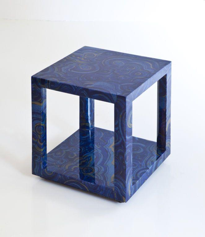 Albert Cube Table. Modern Side TableBlue ...