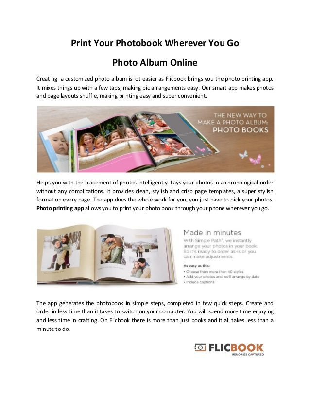 Print Your Photobook Wherever You Go  Photo Album Online  Creating a customized photo album is lot easier as Flicbook brings...