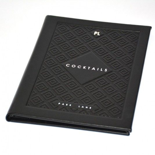 The Labyrinth Menu Covers - The Smart Marketing Group - Hospitality. Jade black menu displays by Smart Hospitality.