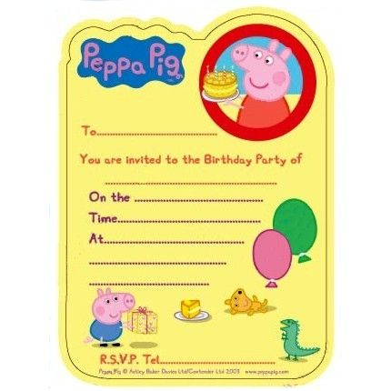 Free Printable Peppa Pig Birthday Invitations Peppa Pig Invitation